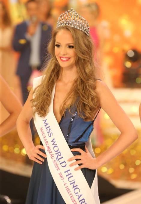 Virag Koroknyai crowned Miss World Hungary 2017