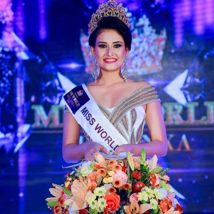 Dusheni De Silva wins Miss World Sri Lanka 2017