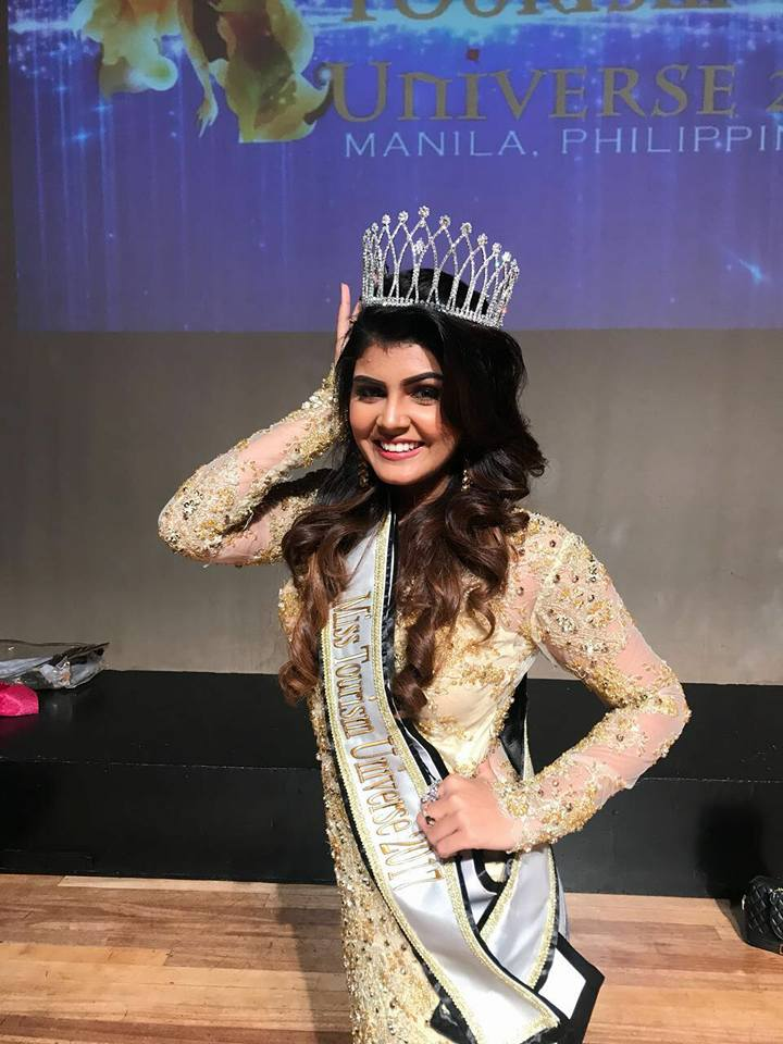 Nishita Purandare from India wins Miss Tourism Universe 2017