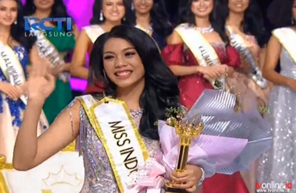 Alya Nurshabrina from Jawa Barat wins Miss Indonesia 2018.