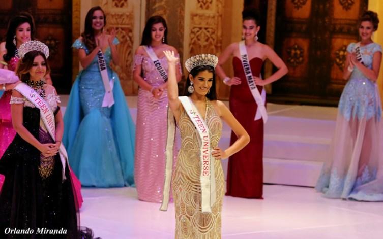 Melanie Cruz from Cuba wins Teen Universe 2018
