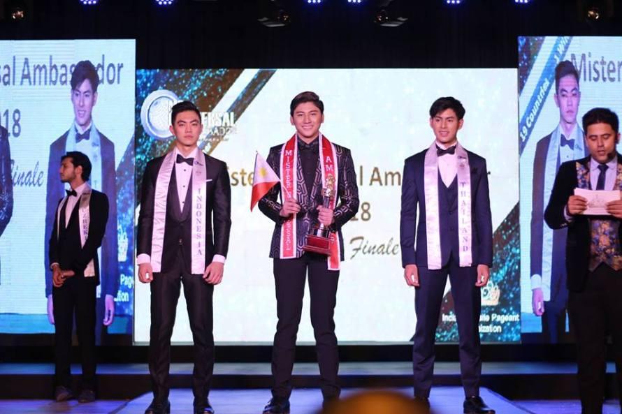 Mr Philippines wins Mister Universal Ambassador 2018