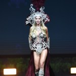 Miss Universe Argentina,Agustina Pivowarchuk during the national costume presentation