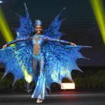 Miss Universe Barbados,Meghan Theobalds during the national costume presentation