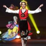 Miss Universe Bulgaria, Gabriela Topalova during the national costume presentation