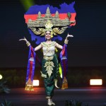 Miss Universe Cambodia,Nat Rern during the national costume presentation
