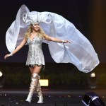Miss Universe Finland,Alina Voronkova during the national costume presentation