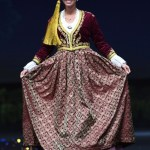 Miss Universe Greece,Ioanna Bella during the national costume presentation