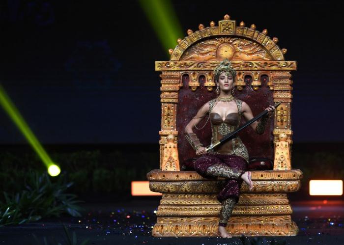 Miss Universe India,Nehal Chudasama during the national costume presentation