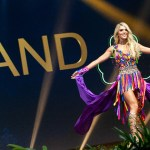 Miss Universe Ireland,Grainne Gallanagh during the national costume presentation