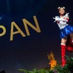 Miss Universe Japan,Yuumi Kato during the national costume presentation