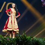 Miss Universe Kosovo,Zana Berisha during the national costume presentation
