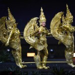 Miss Universe Laos,On-anong Homsombath during the national costume presentation