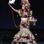 Miss Universe Nicaragua,Adriana Paniagua during the national costume presentation