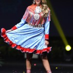 Miss Universe Norway,Susanne Guttorm during the national costume presentation