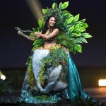 Miss Universe Peru,Romina Lozano during the national costume presentation