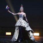 Miss Universe Sweden,Emma Strandberg during the national costume presentation
