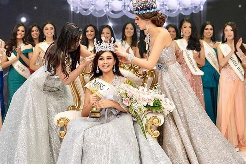 Princess Megonondo wins Miss Indonesia 2019