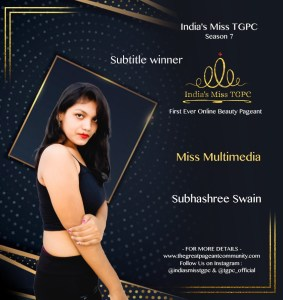 Miss Multimedia Subhashree Swain