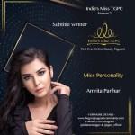 Miss Personality Amrita Parihar