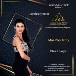 Miss Popularity Bharti Kumari