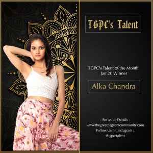 Alka Chandra wins TGPC's Talent of the Month January 2020