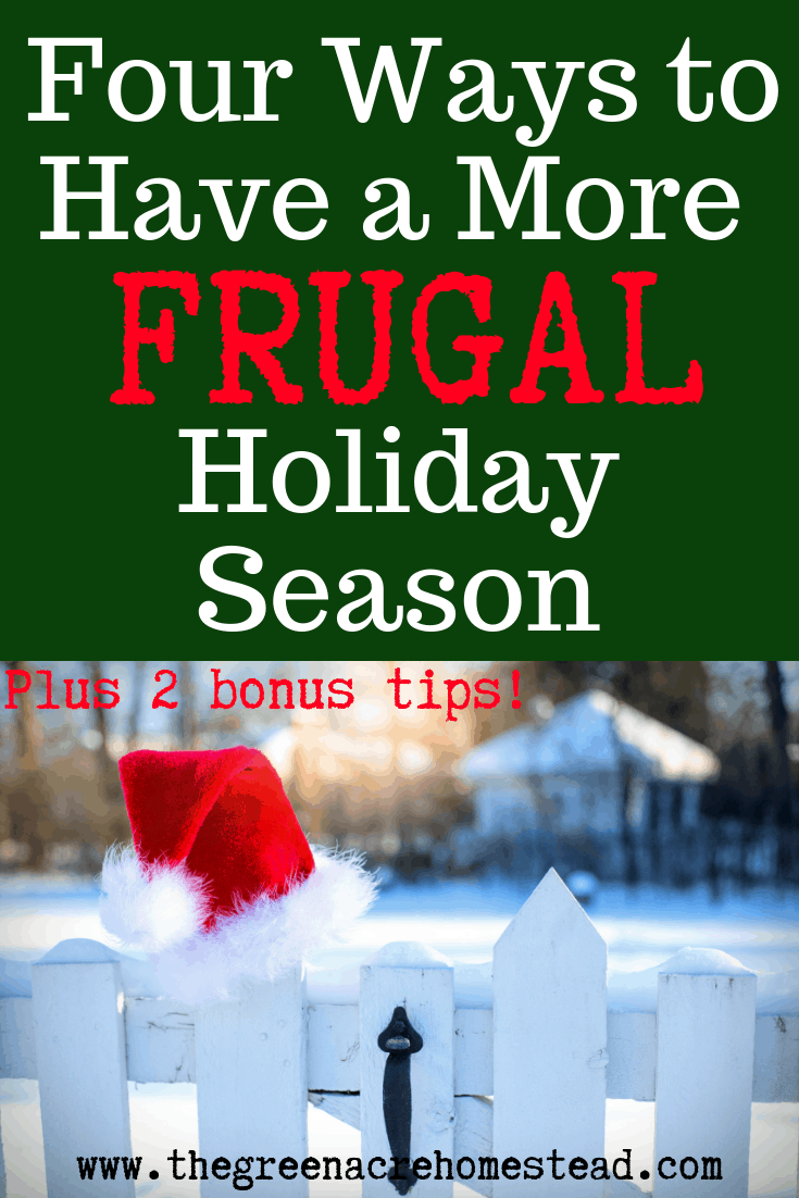 Four Ways to Have a More Frugal Holiday Season