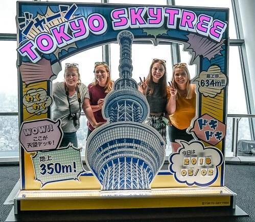 Group shot at the Tokyo Skytree