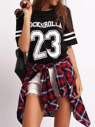 rocknrolla, sheinside, t-shirt femme