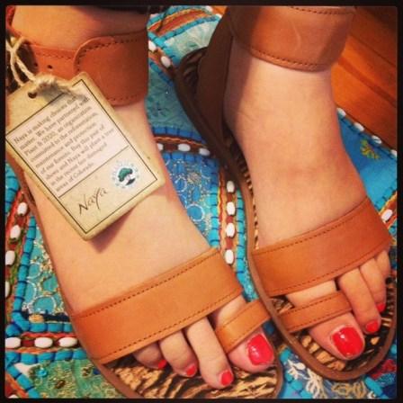 green diva jamie in naya sandals