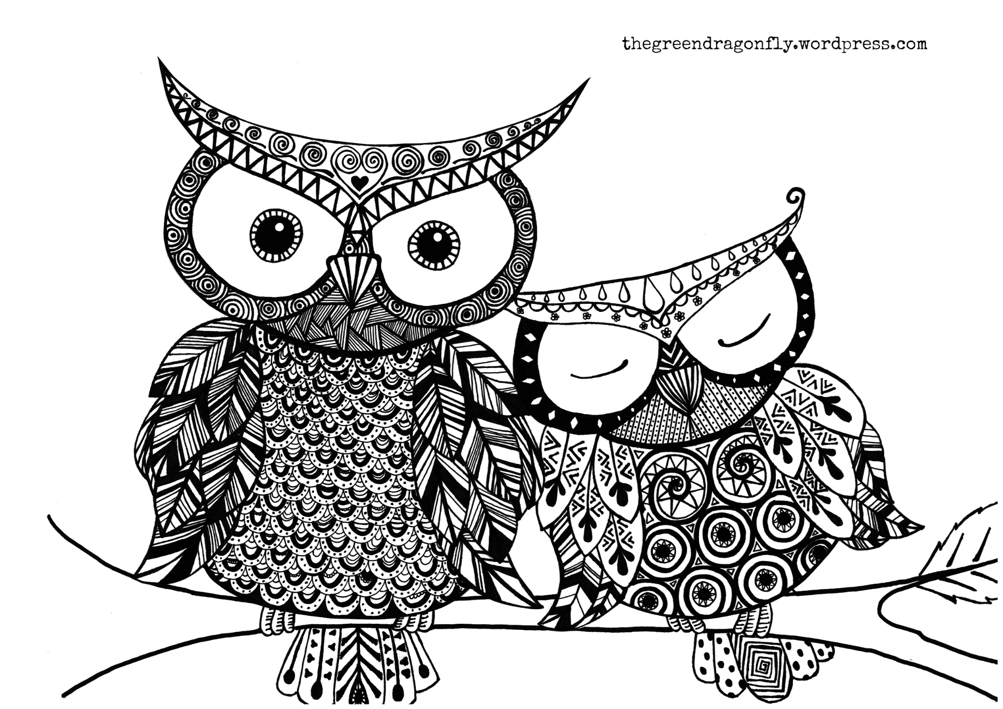 here s a cute owl page for you