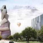 O edifício projetado com inclinação perfeita para produzir energia solar de forma eficiente o tempo todo