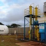 PR inaugura 1ª planta do Brasil que produz energia a partir de esgoto, restos de alimentos e podas de grama