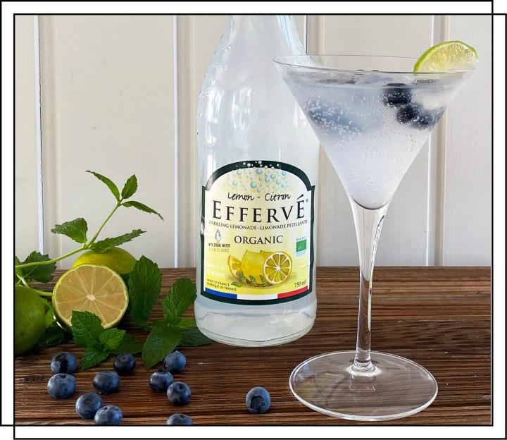 Efferve Blueberry drink med Lemon sodavand