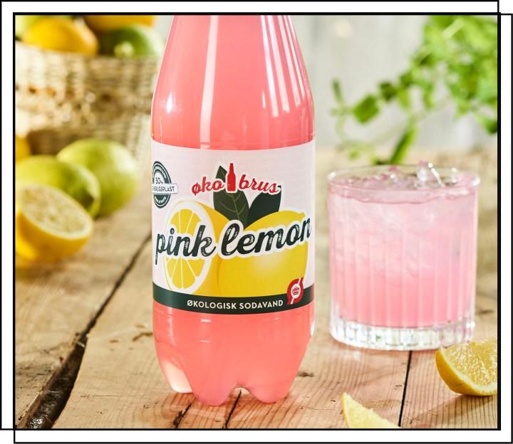 ØkoBrus Pink Lemonade sodavand er en skøn kombination af citrusfrugter og farvet med solbær