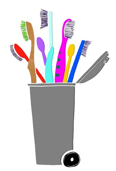 Toothbrush Trash