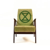 Armchair with XR symbol
