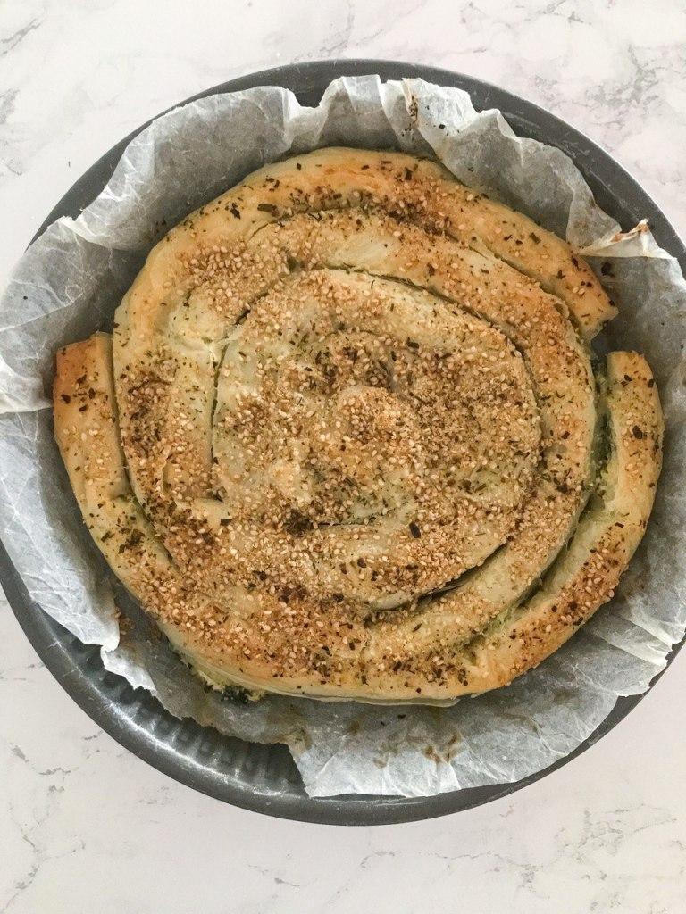 Börek turco vegetariano