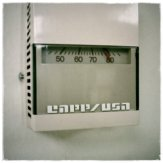 Ridiculously hot at work. Ugg. This is the thermostat in my office.