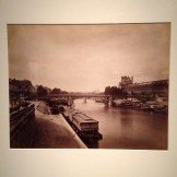 'The Pont du Carrousel, Paris: View to the West from the Pont des Arts', 1856-58 by Gustave Le Gray