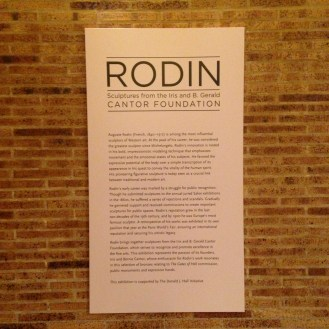 Rodin: Sculptures from the Iris and B. Gerald Cantor Foundation