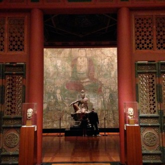 The Chinese Temple, 15th century, with Guanyin of the Southern Sea, Liao (907-1125) or Jin Dynasty (1115-1234)