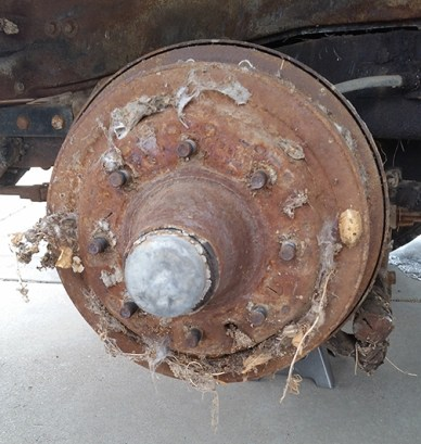 Left front axel, before