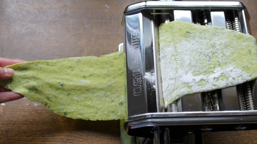 the green walnuts - wild garlic pasta dough