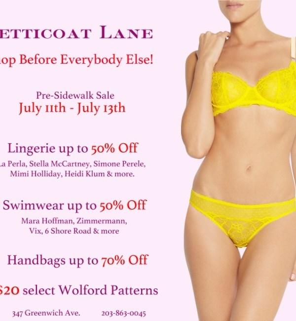 Petticoat Lane Pre-Sidewalk Sale