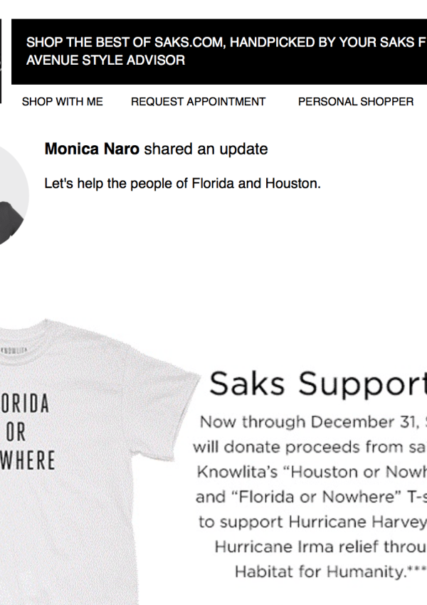 Houston or Nowhere and Florida or Nowhere T-shirts at Saks