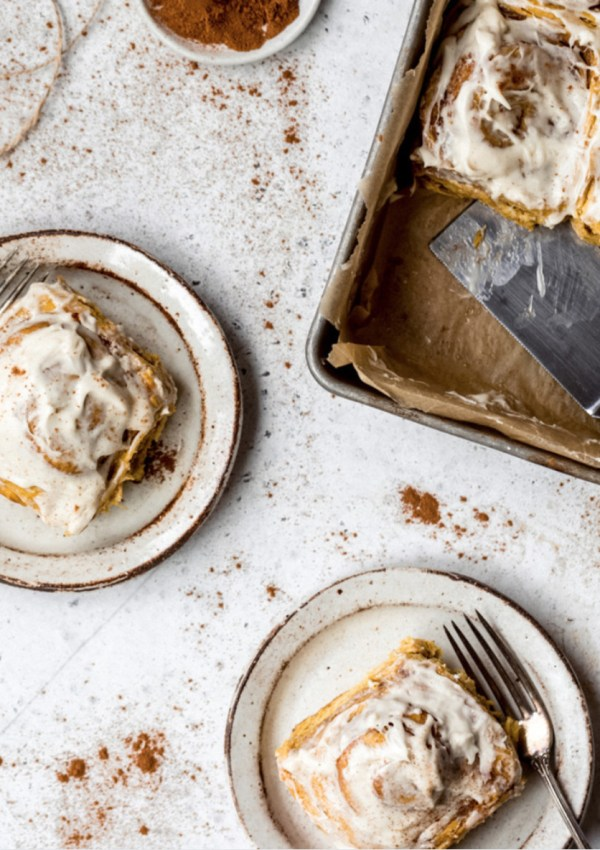 Fall Into These Pumpkin Cinnamon Rolls