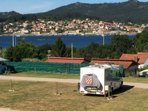 073 Camping Car Area Playa Arneles, O Hio, Spain, Motorhome Parking, Aire