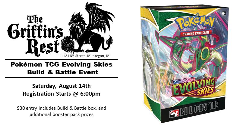 Pokémon TCG – Evolving Skies Build & Battle Event