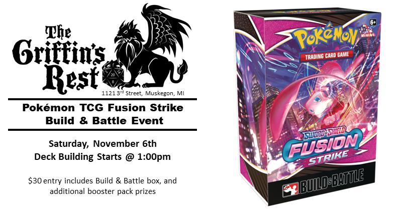 Pokémon TCG – Fusion Strike Build & Battle Event